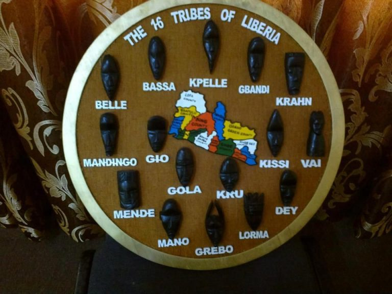 The sixteen Tribes of Liberia